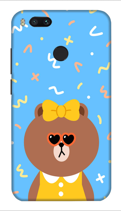 Cute Teddy Hard Case For Mi A1