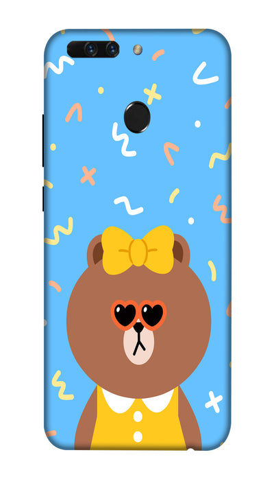 Cute Teddy Hard Case For Honor 8 Pro