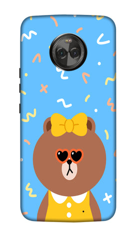 Cute Teddy Hard Case For Moto X4