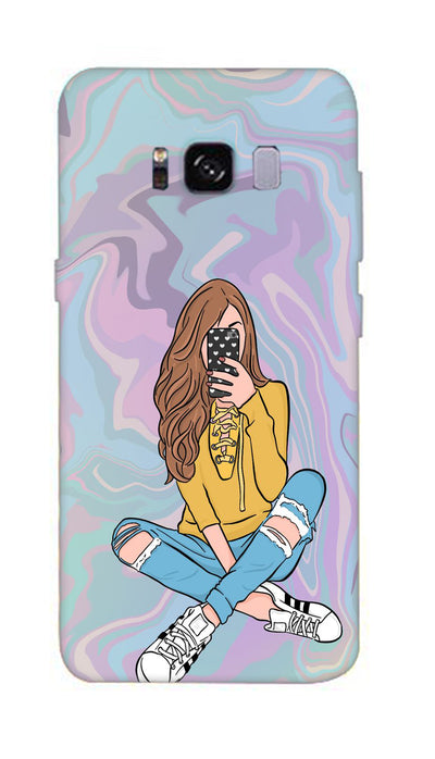 Selfie girl Hard Case For Samsung S8