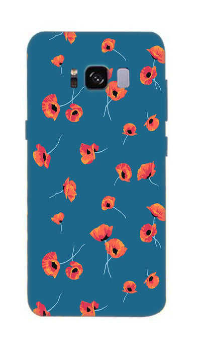Orange flower Hard Case For Samsung S8