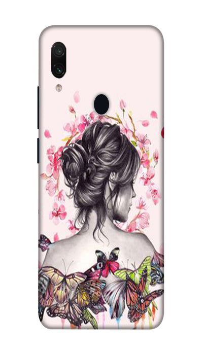 Butterflies girl Hard Case For Redmi Note 7