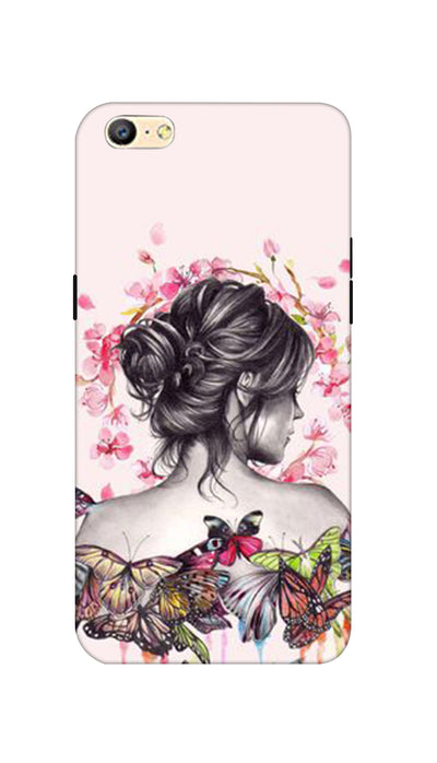Butterflies girl Hard Case For Oppo A57