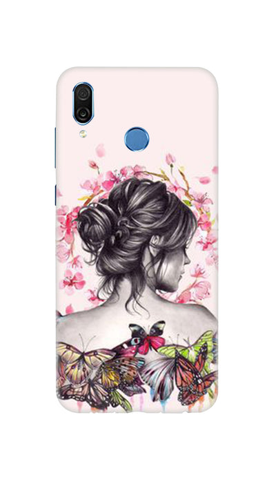 Butterflies girl Hard Case For Honor Play