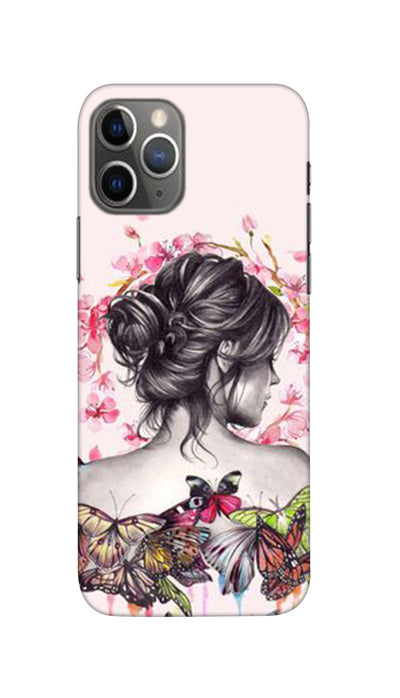 Butterflies girl Hard Case For iPhone 11 Pro Max