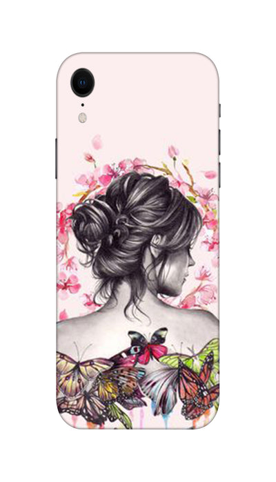 Butterflies girl Hard Case For Apple iPhone XR