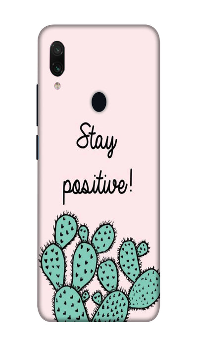 Stay postive Hard Case For Redmi Note 7