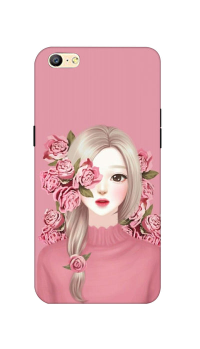 Roses & girl Hard Case For Oppo A57