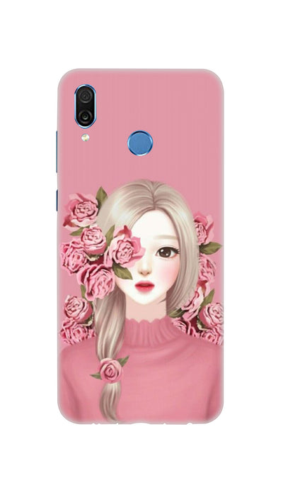 Roses & girl Hard Case For Honor Play
