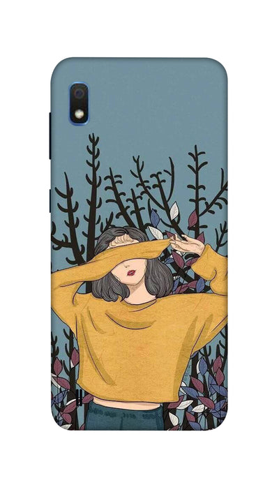 Hiding girl Hard Case For Samsung A10