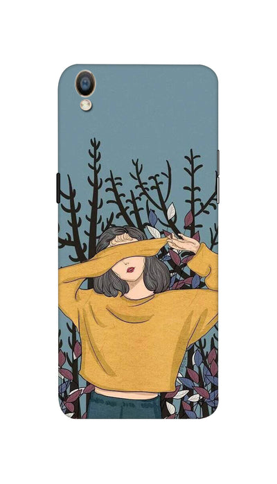 Hiding girl Hard Case For Oppo F1 Plus