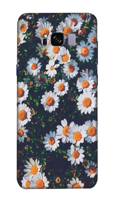 White flowers  N Hard Case For Samsung S8 Plus