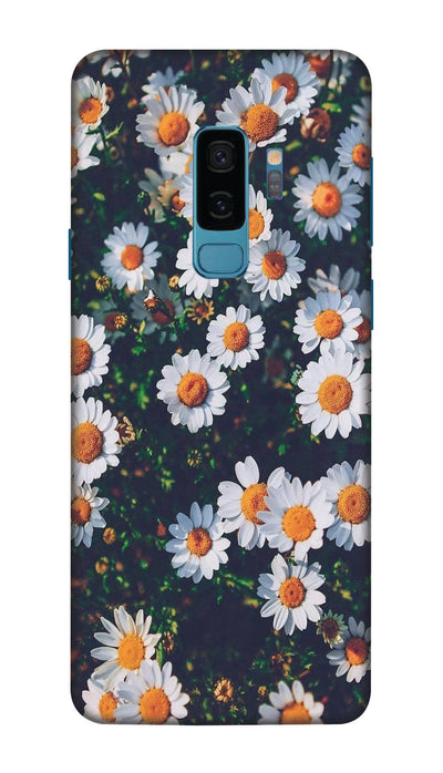 White flowers  N Hard Case For Samsung S9 Plus