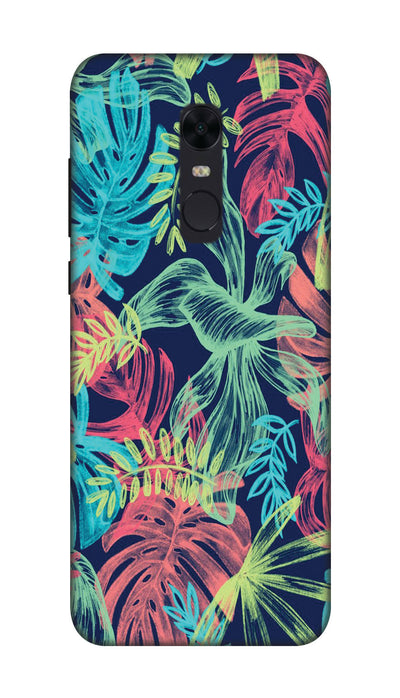 Colored leaves Hard Case For Redmi Note 5