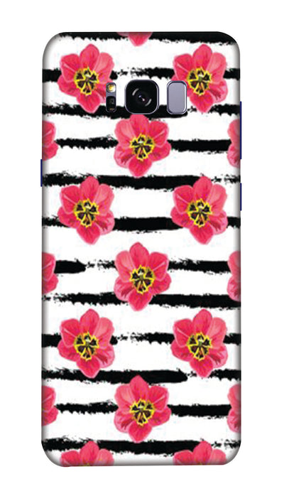Red flowers Hard Case For Samsung S8 Plus