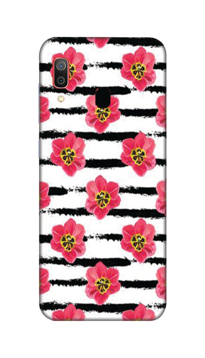Red flowers Hard Case For Samsung M20