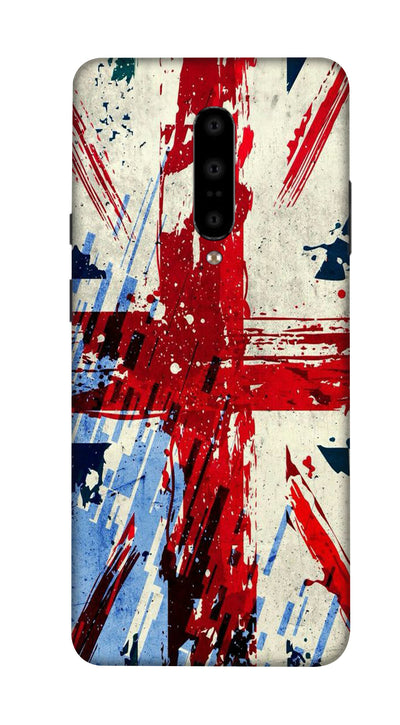 Red & blue patches Hard Case For OnePlus 7