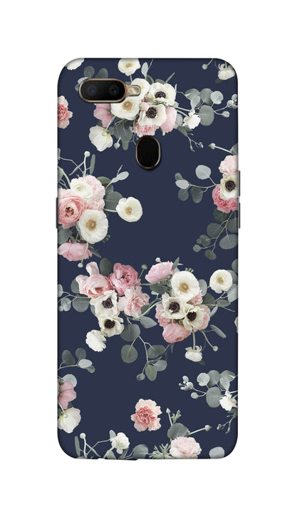 Pink & white roses Hard Case For Oppo A5S