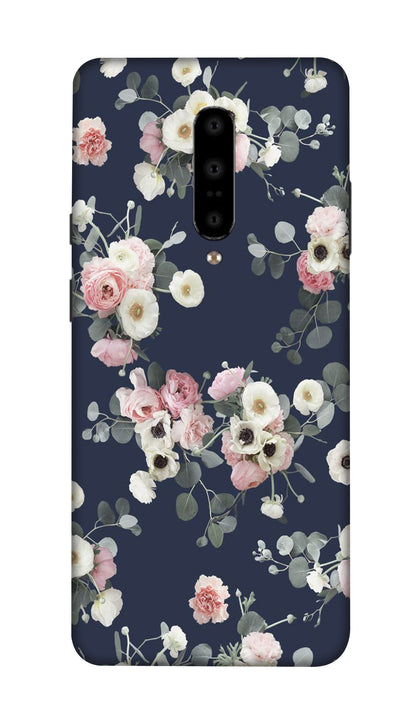 Pink & white roses Hard Case For OnePlus 7