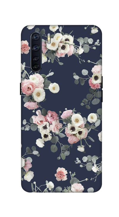 Pink & white roses Hard Case For Oppo F15