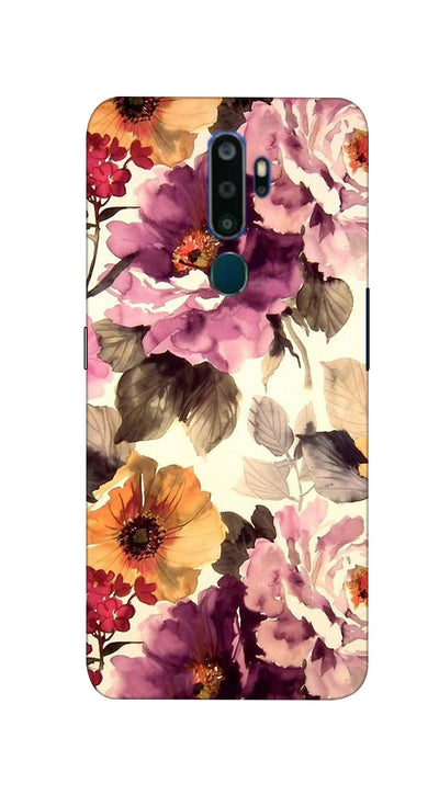 Big flowers Hard Case For Oppo A5-2020