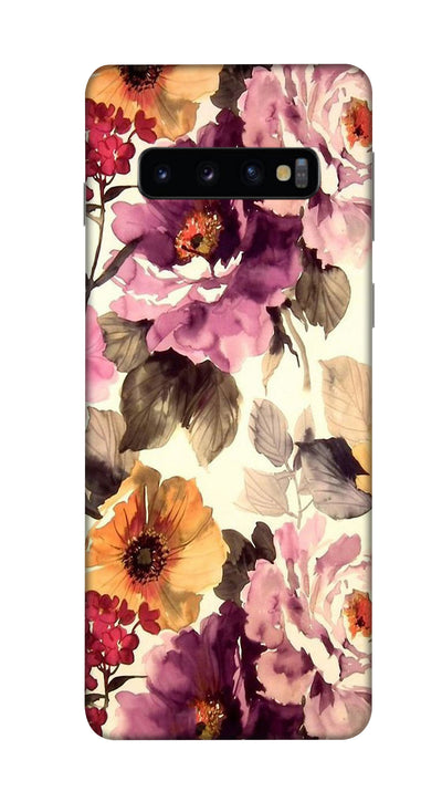 Big flowers Hard Case For Samsung S10 Plus