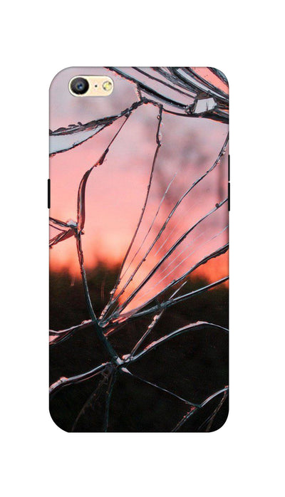 Broken Glass Hard Case For Oppo A57