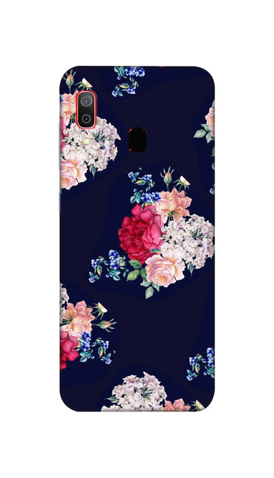 Flowers print Hard Case For Samsung M20