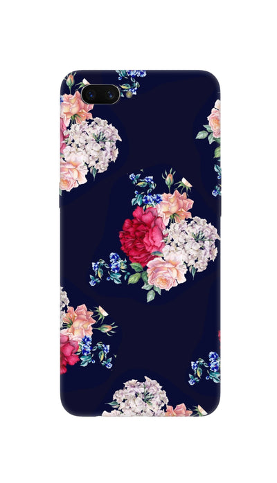 Flowers print Hard Case For Oppo A3S