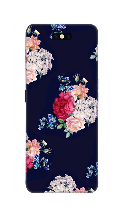 Flowers print Hard Case For Oppo Find X