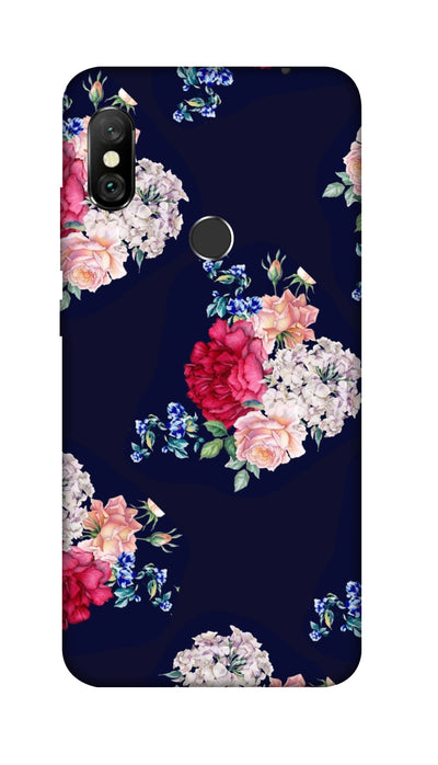 Flowers print Hard Case For Redmi 6 Pro