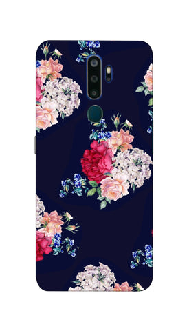 Flowers print Hard Case For Oppo A5-2020