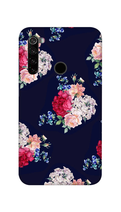 Flowers print Hard Case For Mi Redmi Note 8