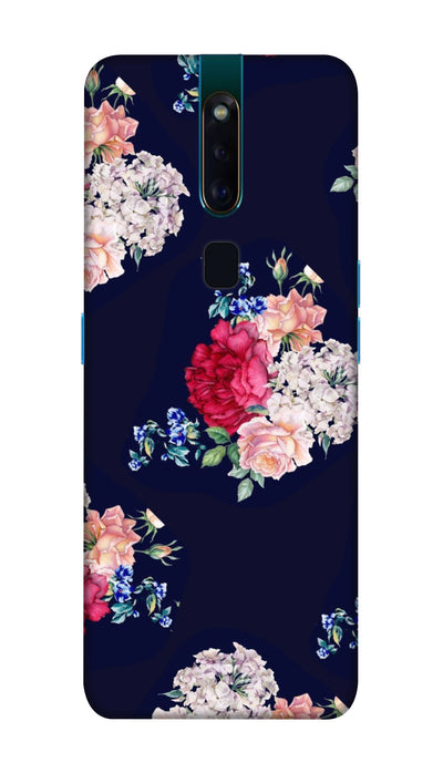 Flowers print Hard Case For Oppo F11 Pro