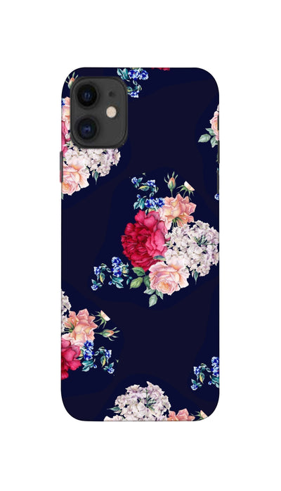 Flowers print Hard Case For Apple iPhone 11
