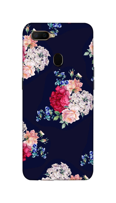 Flowers print Hard Case For Oppo A5S