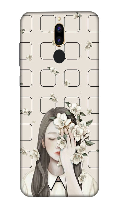 Girl and flowers Hard Case For Honor 9i
