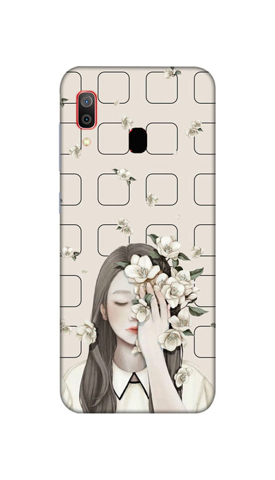 Girl and flowers Hard Case For Samsung M20