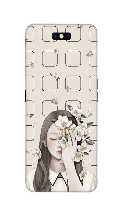 Girl and flowers Hard Case For Oppo Find X