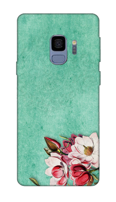 Corner flower Hard Case For Samsung S9
