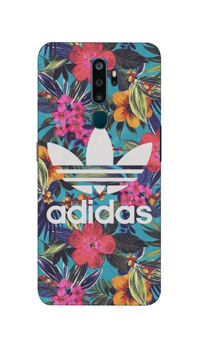 Floral Adidas Hard Case For Oppo A5-2020