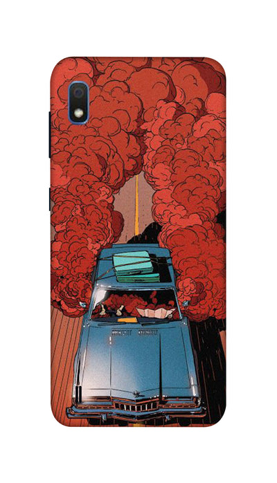 Blue Car Hard Case For Samsung A10