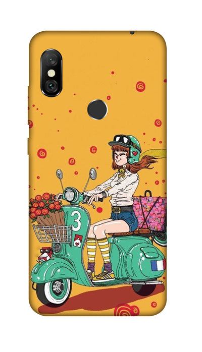 Scooter Girl Hard Case For Redmi 6 Pro