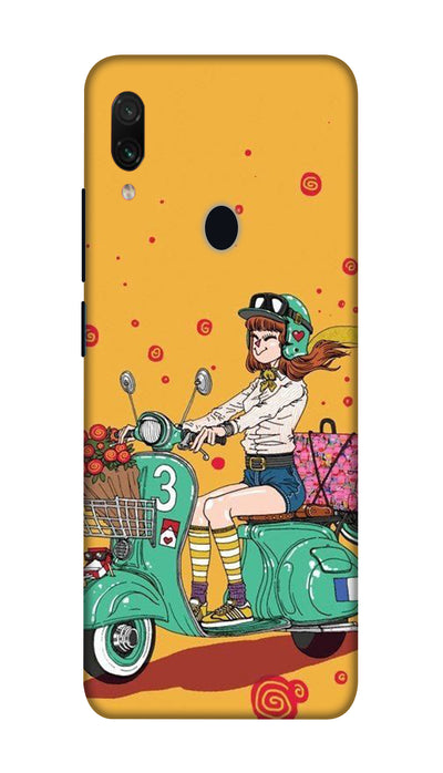 Scooter Girl Hard Case For Redmi Note 7 Pro