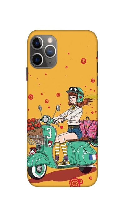 Scooter Girl Hard Case For Apple iPhone 11 Pro