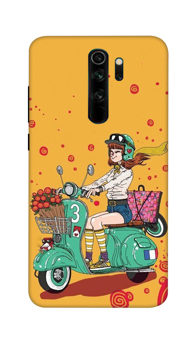 Scooter Girl Hard Case For Mi Redmi Note 8 Pro