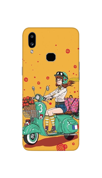 Scooter Girl Hard Case For Samsung A10S