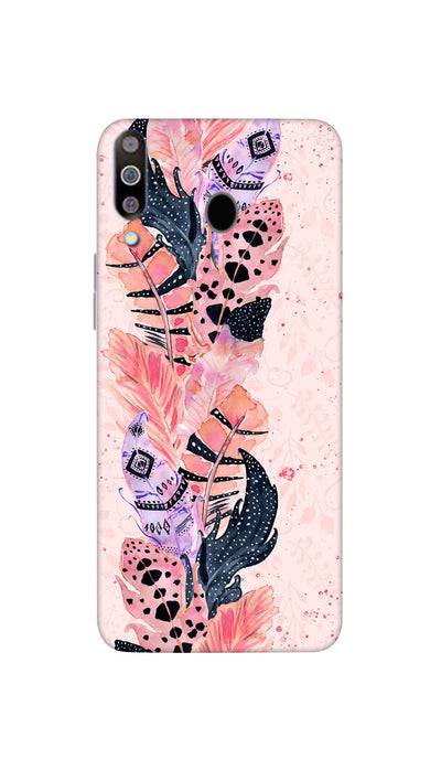 Coloured Feathers Hard Case For Samsung M30