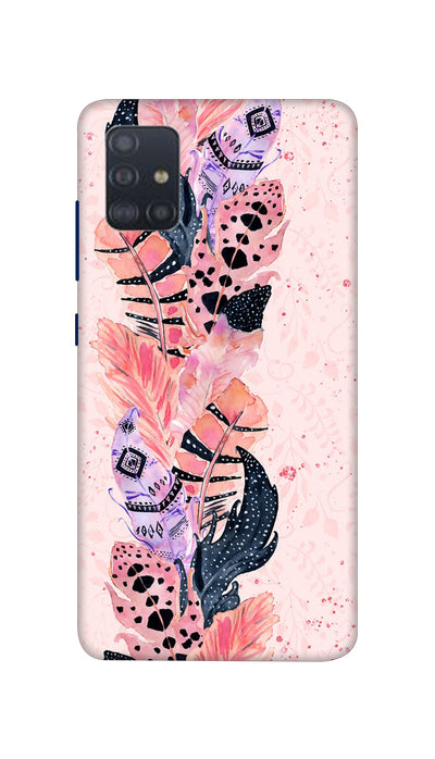 Coloured Feathers Hard Case For Samsung A51