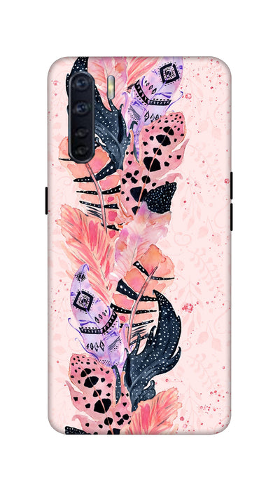Coloured Feathers Hard Case For Oppo F15